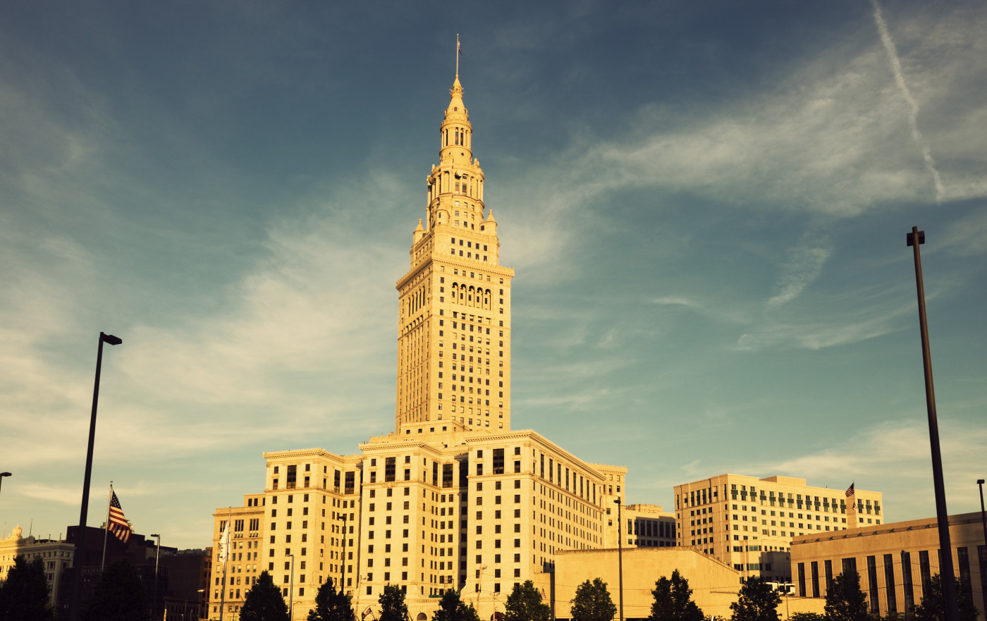 Terminal Tower in downtown of Cleveland